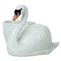 Quail Swan with Egg Cup