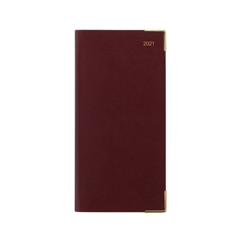 Letts of London Classic Slim Week-To-View Upright 2021 Diary with Planner Burgundy