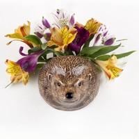 Quail Hedgehog Wall Vase