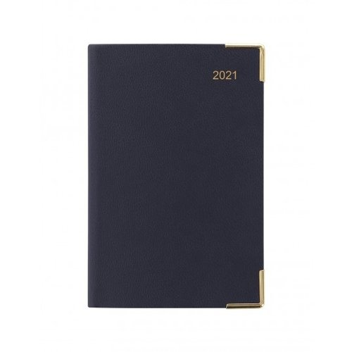 Letts of London Classic Mini Pocket Week to View Diary 2021 Blue