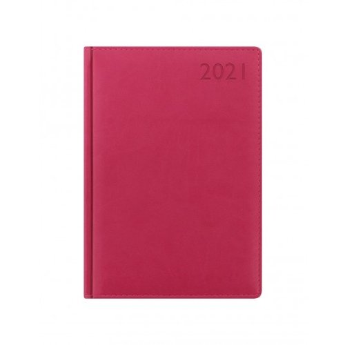 Letts of London Verona A5 Week to View Diary 2021 Pink