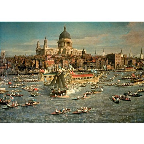Wentworth Wooden Puzzles London,  Thames with View of City and St Paul - 500 pc Jigsaw Puzzle