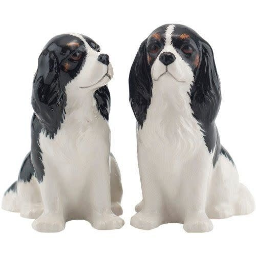 Quail Ceramics Quail Set of 2 Cavalier King Charles Figures Tricolor