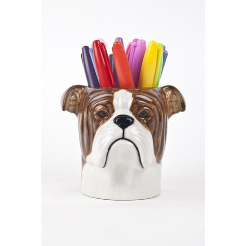 Quail Ceramics English Bulldog Pencil Pot