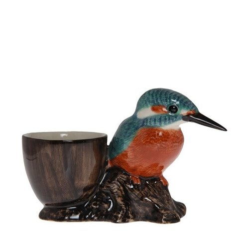 Quail Ceramics Quail Kingfisher with Egg Cup