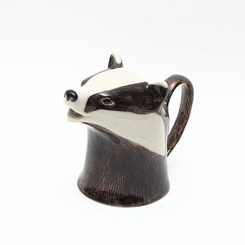Quail Ceramics Quail Badger Jug Small