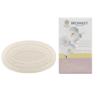 Bronnley orchid triple milled 100g bar soap