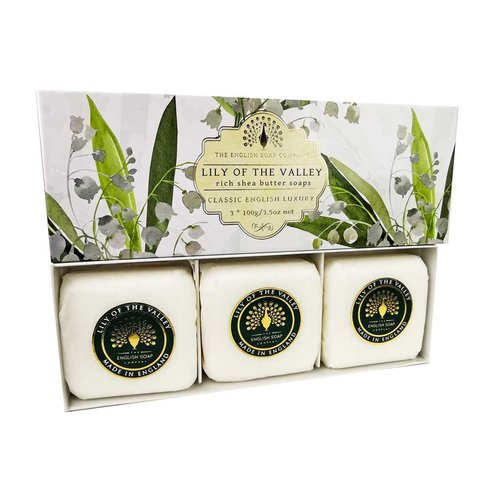 The English Soap Company lily of the valley rich shea butter soaps