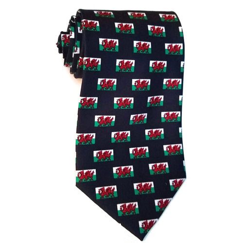 The Tie Studio Welsh Flag Tie