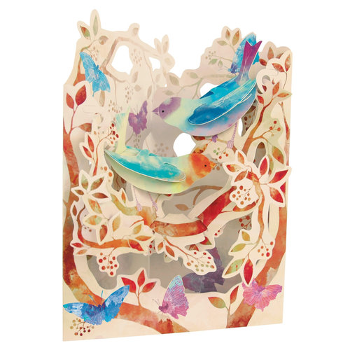 Santoro London Birds and Butterflies Swing Card