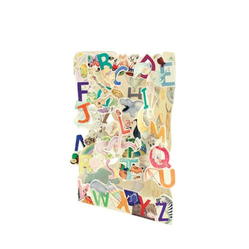 Santoro London A to Z Swing Card