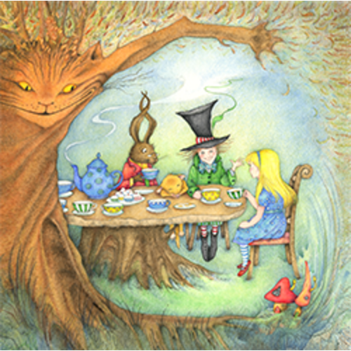 The Mad Hatter's Tea-Party Card