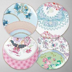 Wedgwood Butterfly Bloom Tea Plate Set of 4