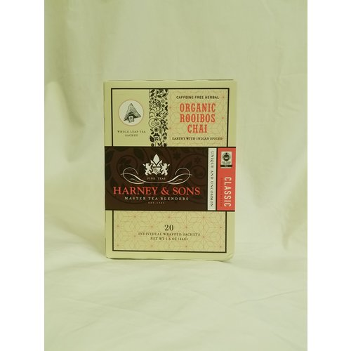 Harney & Sons Harney and Sons Organic Rooibos Chai Box of Wrapped Sachets