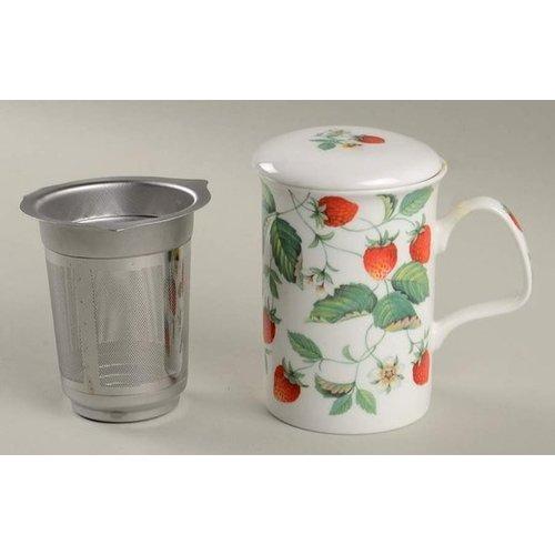Alpine Strawberry Infuser Covered Mug