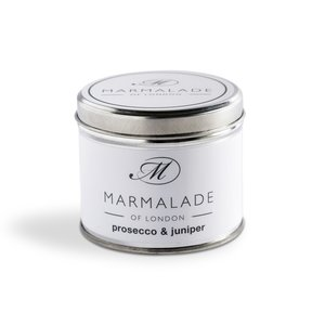 Marmalade of London Prosecco and Juniper Tin Candle