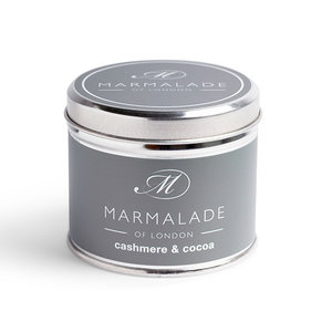Marmalade of London Cashmere and Cocoa Tin Candle