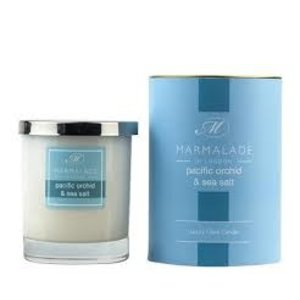 Marmalade of London Pacific Orchid and Sea Salt Glass Candle
