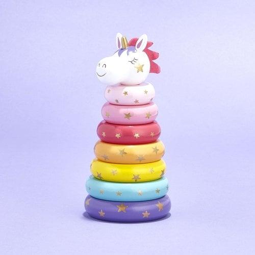 Cupcakes and Cartwheels Unicorn Rainbow Ring Stacker