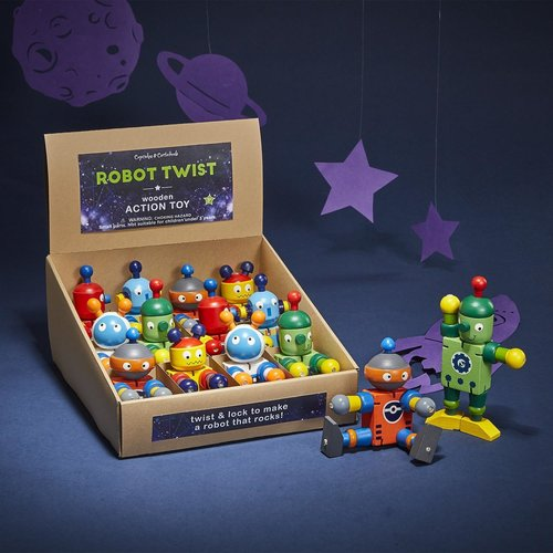 Cupcakes and Cartwheels Robot Twist Toy