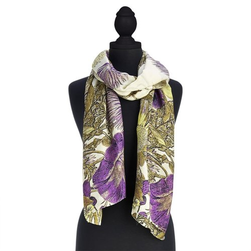 Two's Company Thistle Purple Scarf
