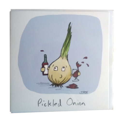 Pickled Onion Greeting Card