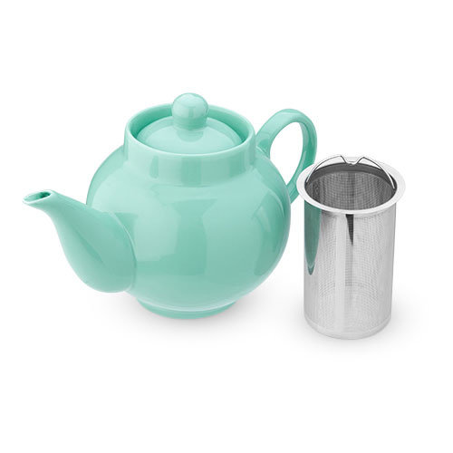 Pinky Up Regan Green Ceramic Teapot & Infuser
