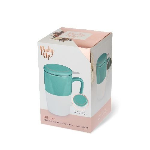 Pinky Up Delia Good Morning Gorgeous Tea Mug & Infuser