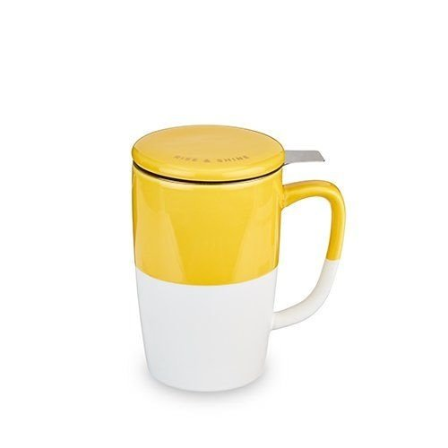 Pinky Up Delia, Yellow Tea Mug & Infuser by Pinky Up