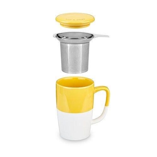 Pinky Up Delia, Yellow Tea Mug & Infuser by Pinky Up