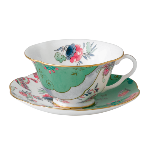 Wedgwood Butterfly Bloom Green Cup & Saucer