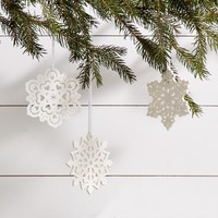 Snow White Snowflake Ornament
