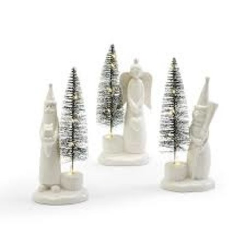 Two's Company Tiding of Joy Light Up Christmas Tree and Figurine