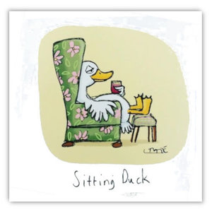 Sitting Duck Greeting Card