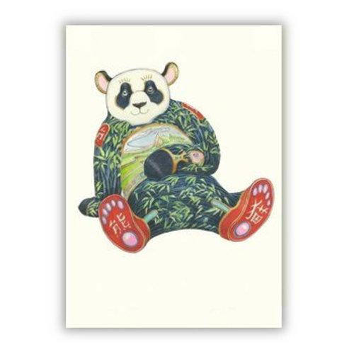 Watercolor Panda Card