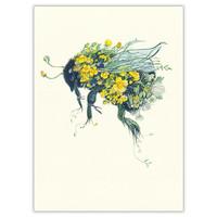 Watercolor Bumblebee Card