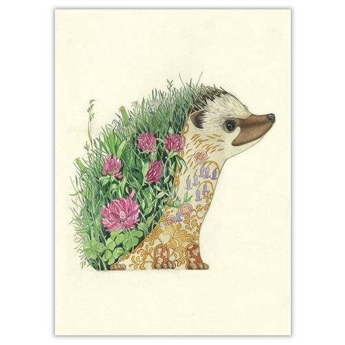 Watercolor Hedgehog Card