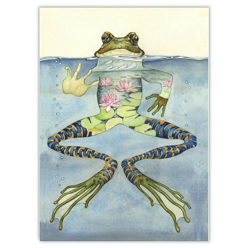Watercolor Frog Card