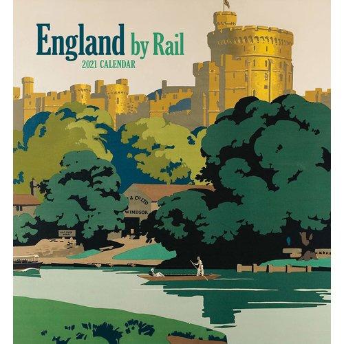 Pomegranate England by Rail 2021 Wall Calendar
