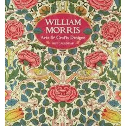 Pomegranate William Morris Arts and Crafts Designs 2021 Wall Calendar