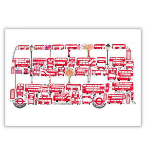B is for Bus Greeting Card