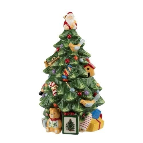 Spode Christmas Tree Cookie Jar