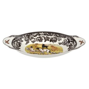 Spode Spode Woodland Bread Tray Hunting Dogs