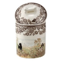 Spode Woodland Treat Jar Dogs