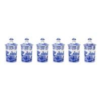 Spode Blue Italian Spice Jar Set