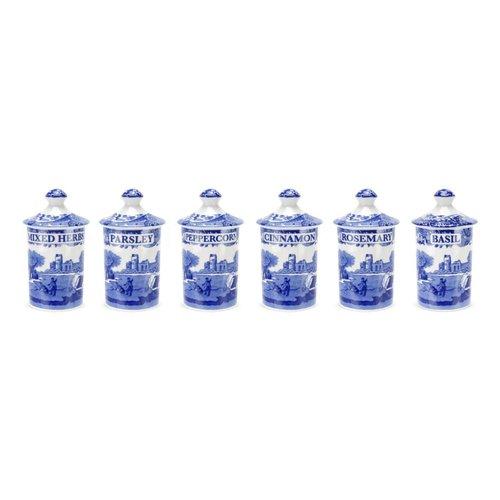Spode Spode Blue Italian Spice Jar Set