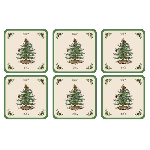 Spode Pimpernel Spode Christmas Tree Coasters