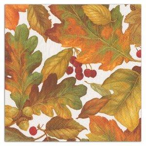 Caspari Autumn Leaves Luncheon Napkins