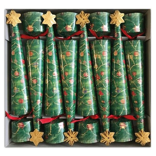 Caspari Christmas Cone Crackers Glittering Tree
