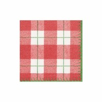 Plaid Red Check Cocktail Napkins